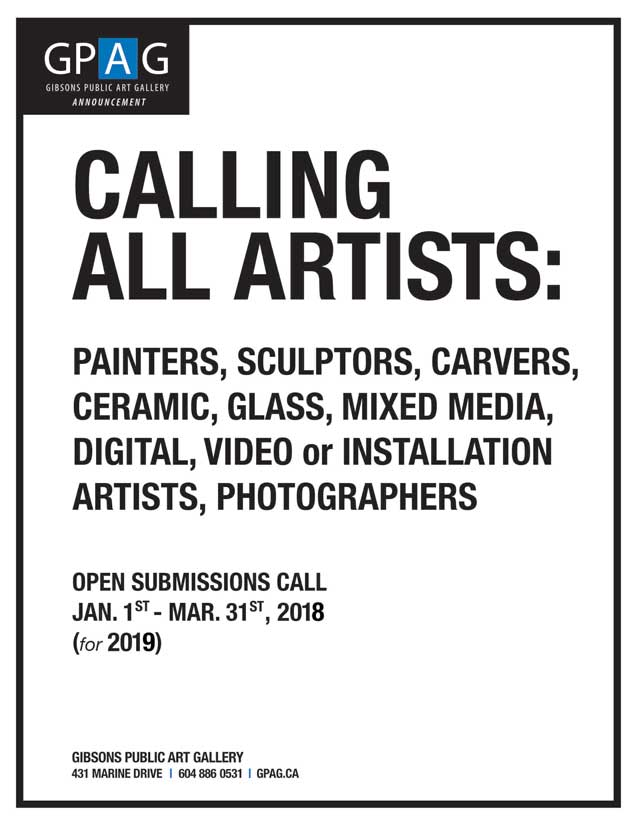 2019 gibsons public art gallery submissions