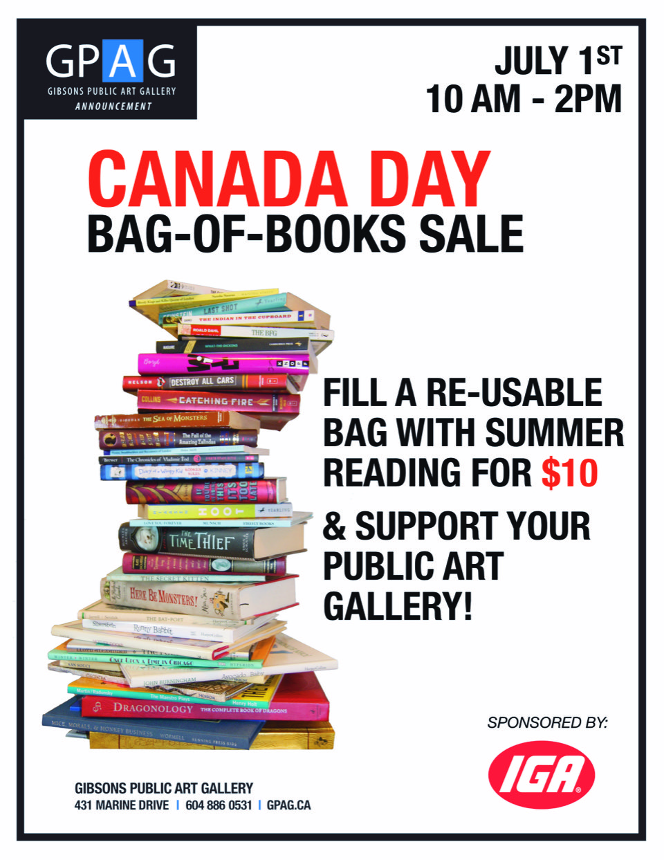 Canada Day Bag-of-Books Sale