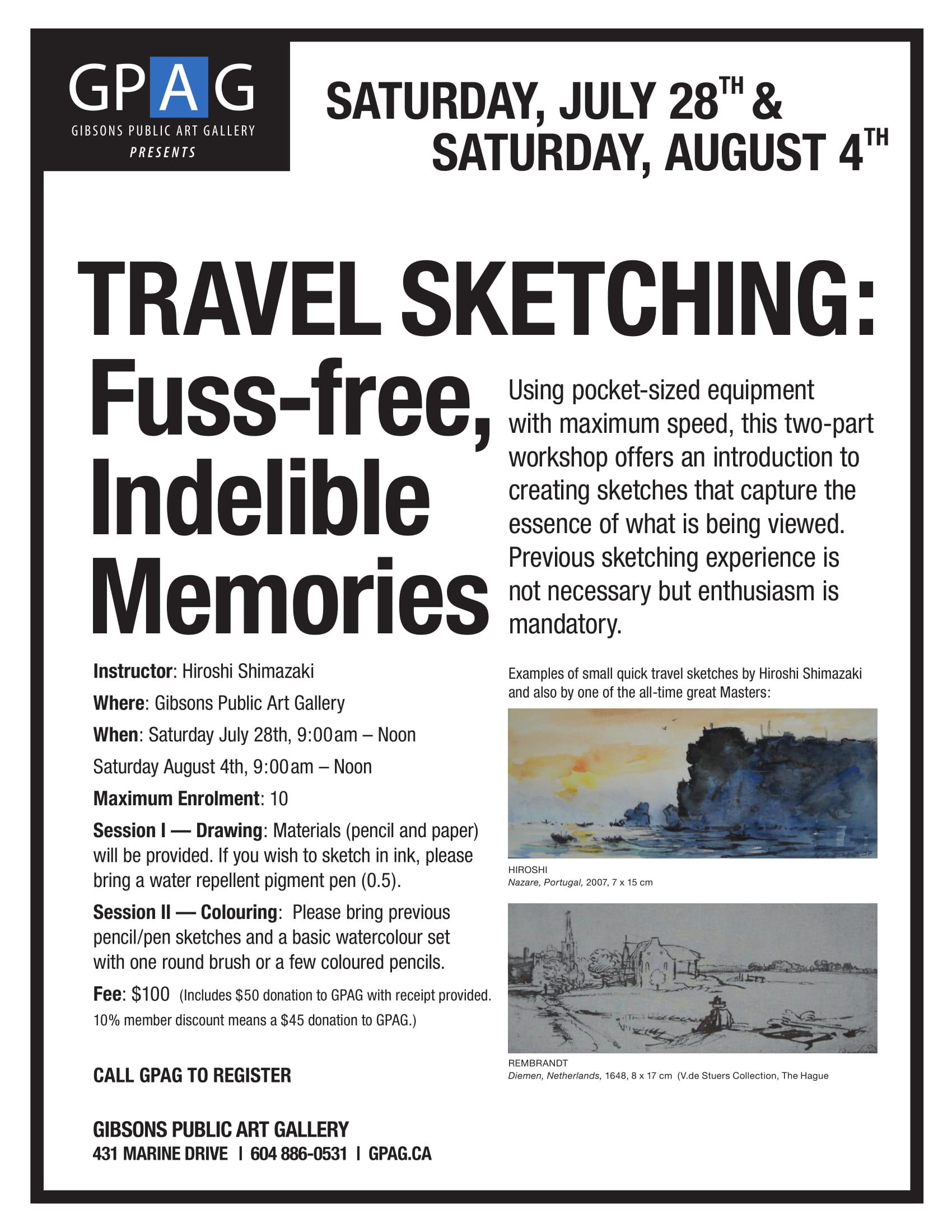 Travel Sketching Workshop