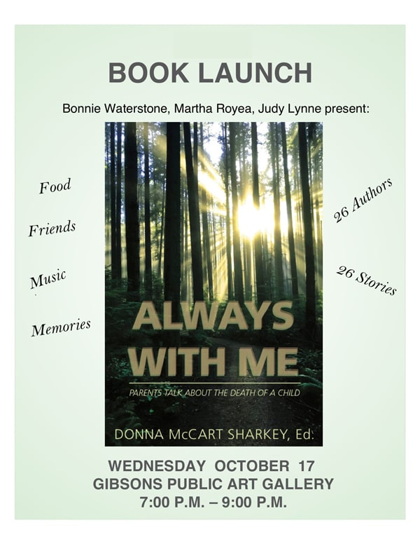 Book Launch: Always With Me: Parents Talk About the Death of a Child