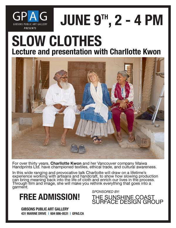 Slow Clothes: Lecture and Presentation with  Charllotte Kwon