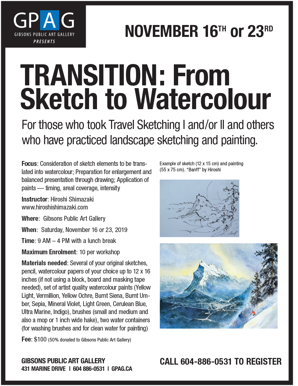 Transition: From Sketch to Watercolour