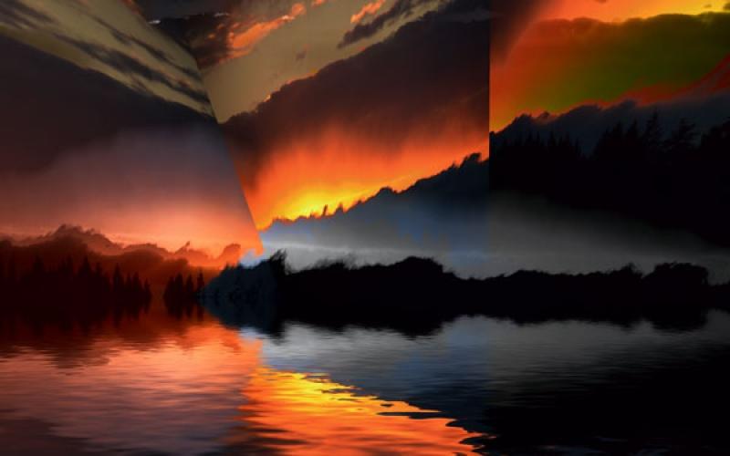 sunset-rays